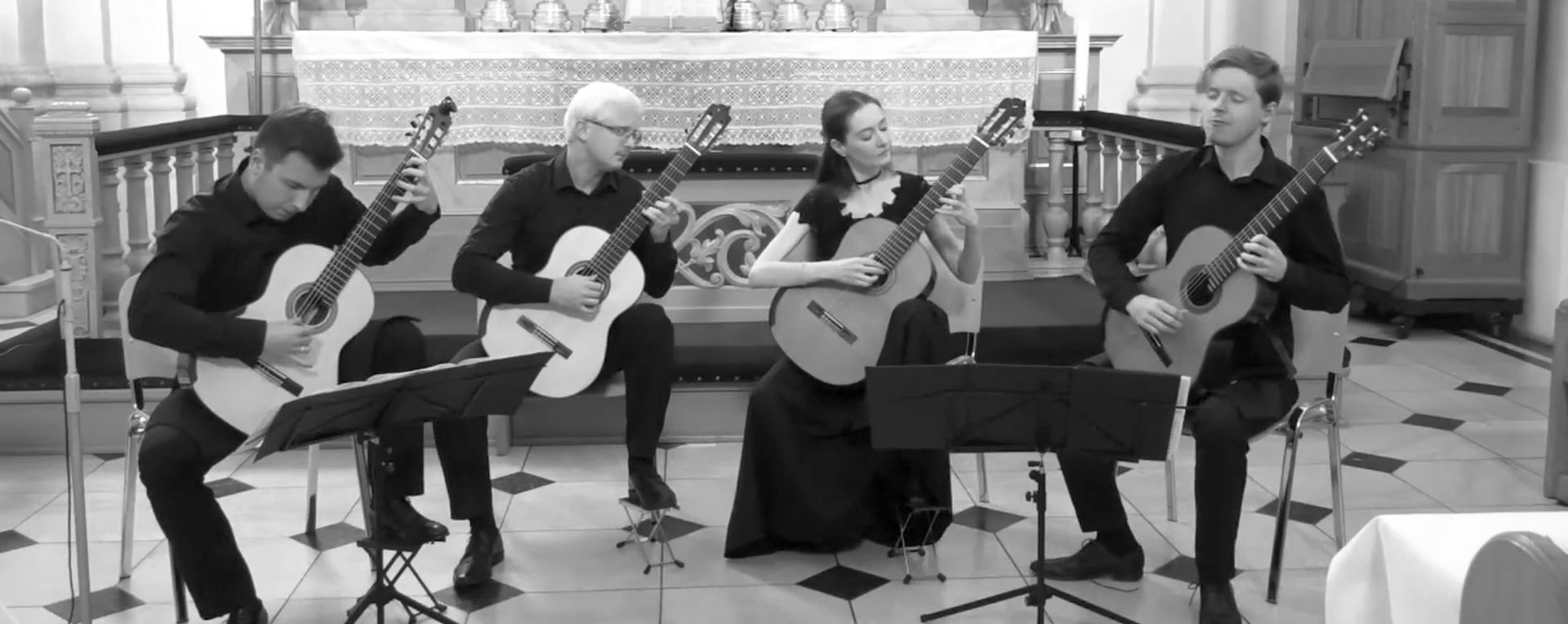 racow Guitar Quartet - Leo Brouwer - Cuban Landscape with Rain (wideo)