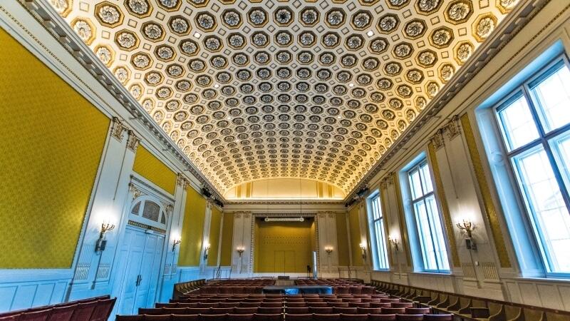 Sala Szuberta w Konzerthaus Vienna. gdzie odbędzie się koncert inaguracyjny FORUM Gitarre Wien 2021, fot. Dozor, CC BY-SA 4.0, Wikimedia Commons